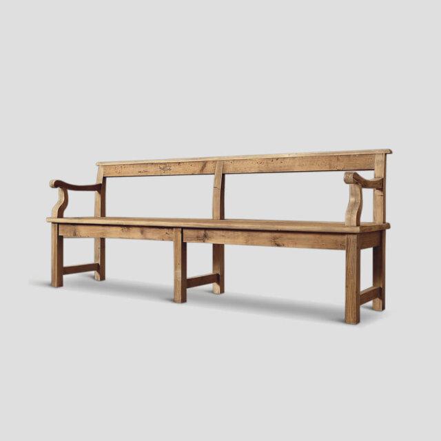 Panca in legno con schienale