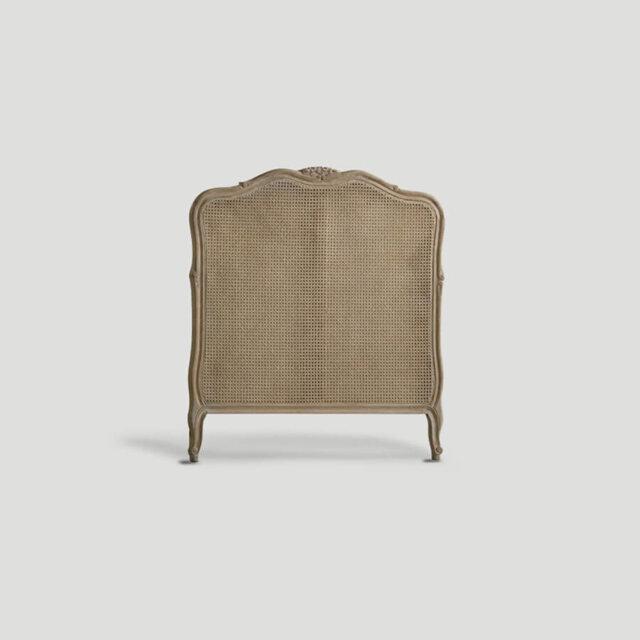 Testiera letto singolo in legno e paglia di Vienna