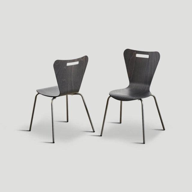 Set 4 sedie impilabili - Dialma Brown