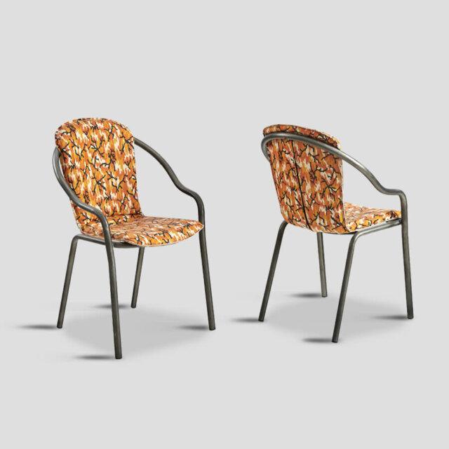 Set 4 sedie in pelle